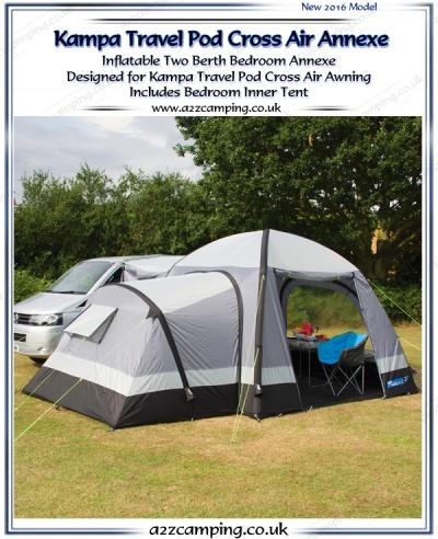 2017 Kampa Travel Pod Cross Air Bedroom Annexe